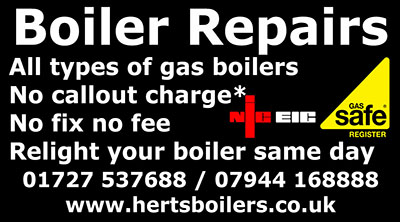 Herts Boilers at St Albans Advertisement